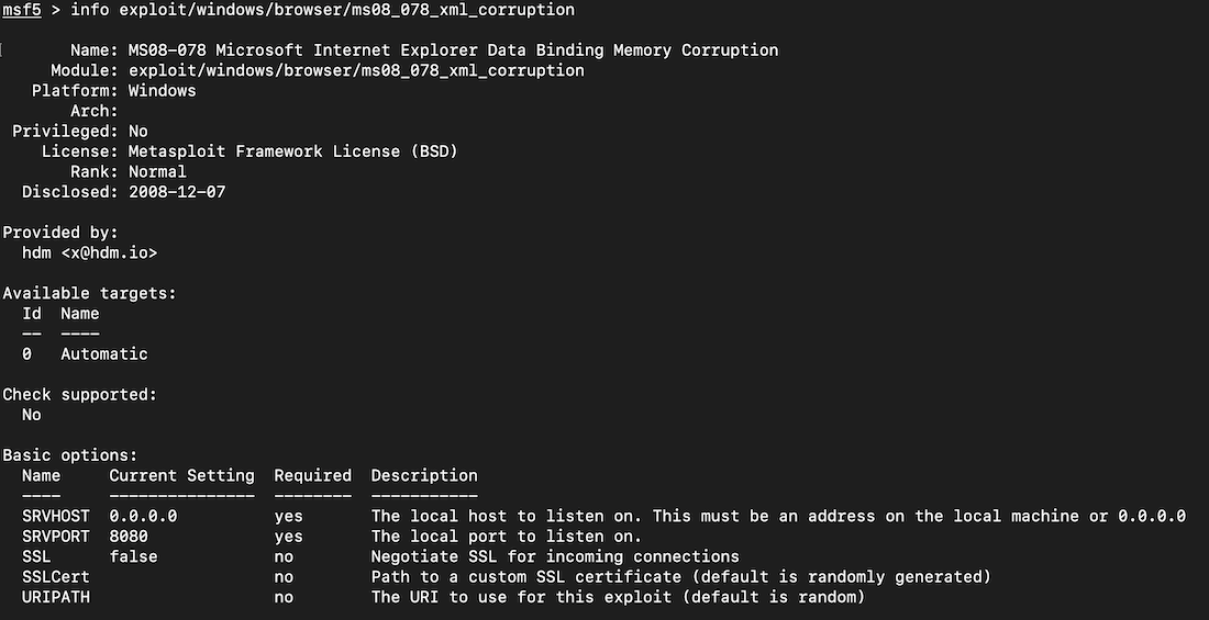 A11: Metasploit v  Windows (25 pts)